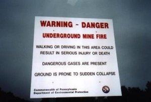 Yeraltı Yangını Uyarısı
