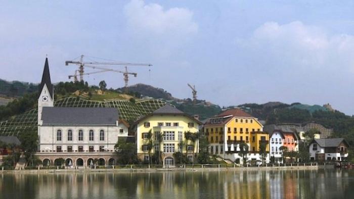 Çin'deki Çakma Hallstatt İnşaatından Bir Görüntü