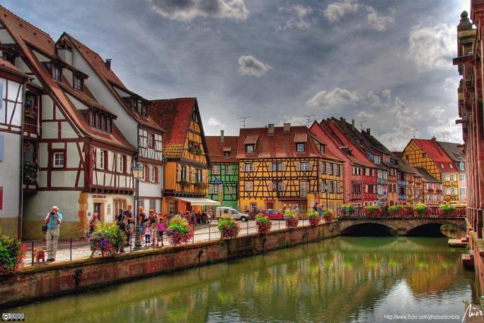 Colmar, Fransa'dan Bir Görünüm